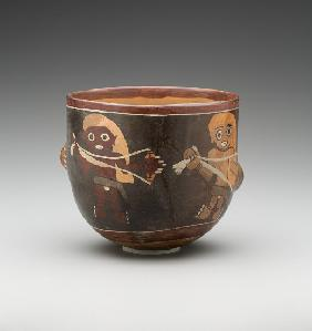Bowl decorated with men spinning, Nazca South Coast