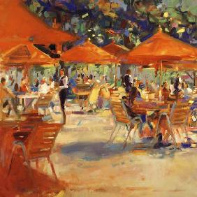 Le Cafe du Jardin (oil on canvas)