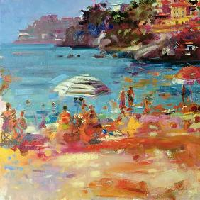 Monaco Coast, 2000 (oil on canvas)