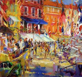 Port Promenade, Saint-Tropez (oil on canvas)