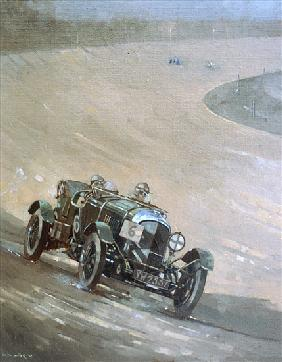 24 Hour Race at Brooklands, 1929 (oil on canvas)