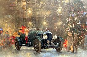 Christmas Bentley (oil on canvas)
