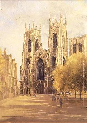York Minster, 1991 (oil on canvas)