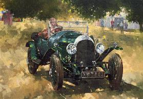 The Green Bentley at Althorp, 1994 (oil on canvas)