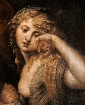 Mary Magdalene, detail from The Deposition