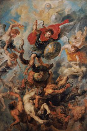 The Engelsturz. Archangel Michael in the fight against the renegade angels