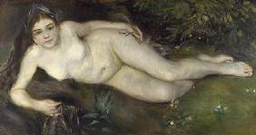 A Nymph by a Stream