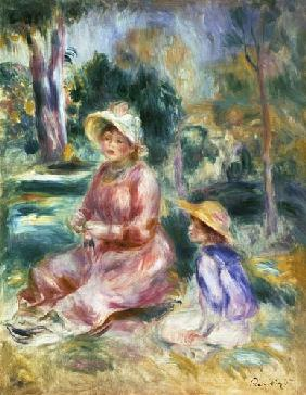 Madame Renoir and her son Pierre