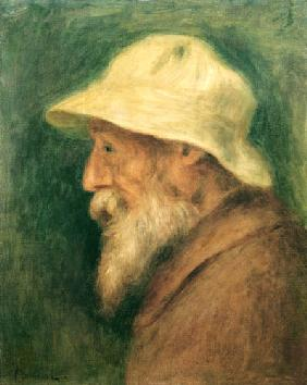 Self-portrait with a white hat