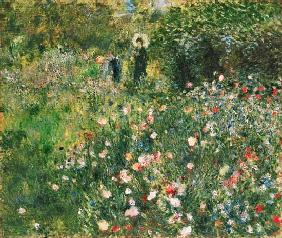 Woman with Parasol in a Garden