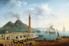 View of Vesuvius from the Harbour of Naples