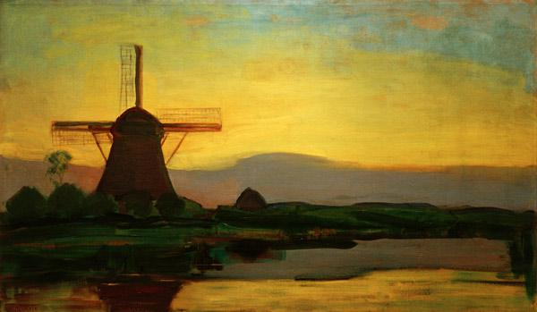 Oostzijd Mill In The Evening