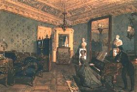 Interior of the Drawing Room in the house of Baron Stieglitz in St. Petersburg
