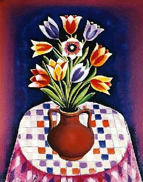 Still life with Flowers, 1967 (oil on canvas)