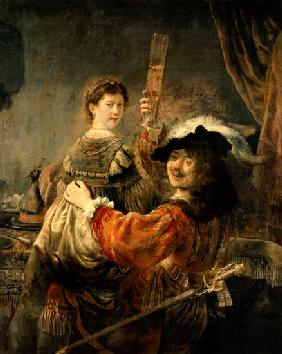 Self-portrait of the artist with his young wife's Saskia