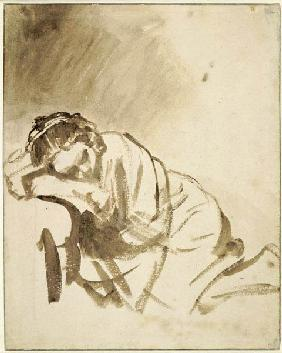 A young woman sleeping (Hendrickje Stoffels)