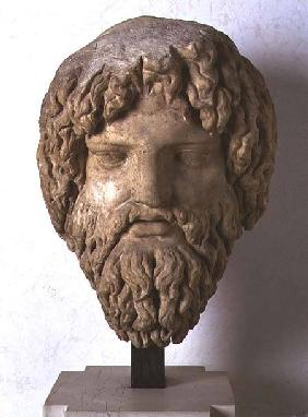 Bearded head representing Jupiter