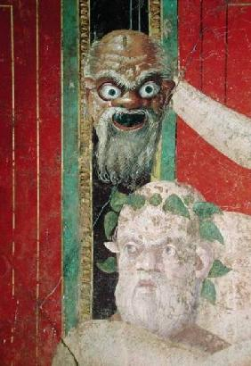 The Head of the Elderly Silenus, Above which is a Silenus Mask, East Wall, Oecus 5