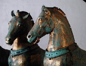 The Four Horses of San Marco, detail of two of the horses, removed from the exterior in 1979