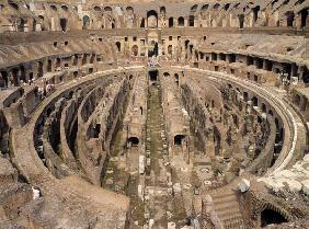 Interior of the Colosseum, built c.70-80 AD (photo)