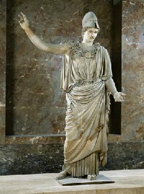 Pallas de Velletri, statue of helmeted Athena, Roman copy of a greek original attributed to Alkamene