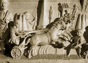 Relief depicting a chariot race