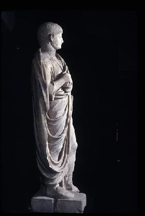 Togate statue of the young Nero