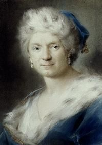 Winter Self-portrait of Rosalba Giovanna Carriera
