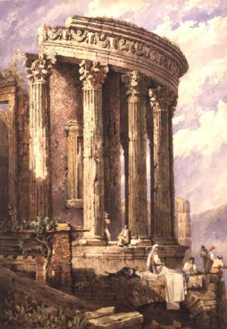 Tivoli Temple Of The Sibyl Samuel Prout As Art Print Or