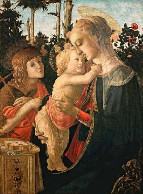 Madonna with the Jesuskind and Johannes. (Detail: Madonna)