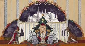 Stage design for the ballet The Nutcracker by P. Tchaykovsky