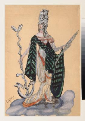 Costume design for the theatre play Triumph of the States by A. Bobrishchev-Pushkin