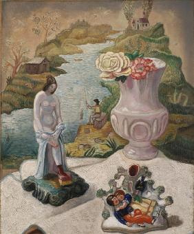 Porcelain Figures and Flowers