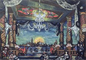 Stage Design for Tales of Hoffmann by Offenbach