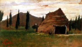 Landscape with a Thatched Hut