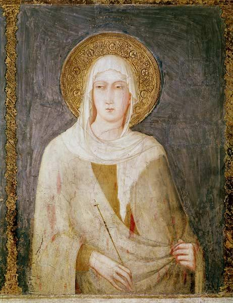 Five Saints, detail of St. Clare