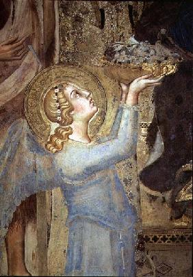 Maesta: Angel Offering Flowers to the Virgin