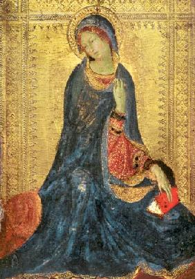 Virgin Annunciate, right hand panel of diptych