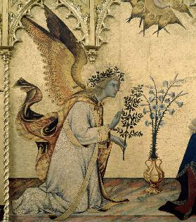 Simone Martini, Annunciation, Angel
