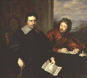 Portrait of Thomas Wentworth, Earl of Strafford (1593-1641) and his Secretary