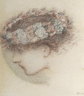 Study for head of Cupid