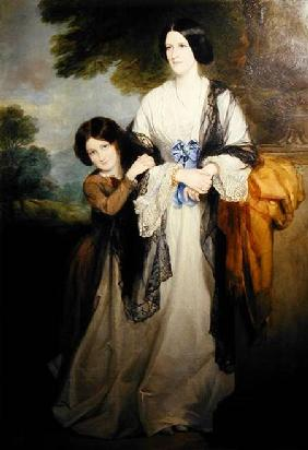 Juliana, Countess of Leicester with her eldest child Lady Julia Coke