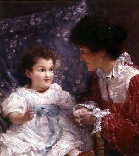 Portrait of Mrs George Lewis and her daughter Elizabeth