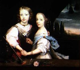 Portrait of Winston and Arabella (1648-1730) Churchill, children of Sir Winston Churchill