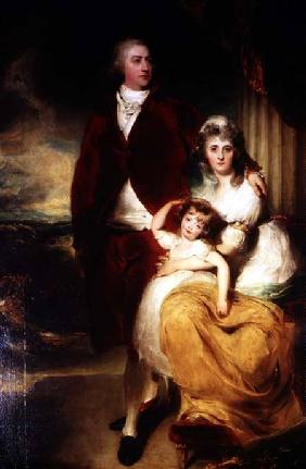 Henry, 10th Earl and 1st Marquess of Exeter, his wife Sarah and daughter Lady Sophia Cecil