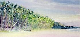 Coco Beach, Goa, India, 1997 (oil on board)