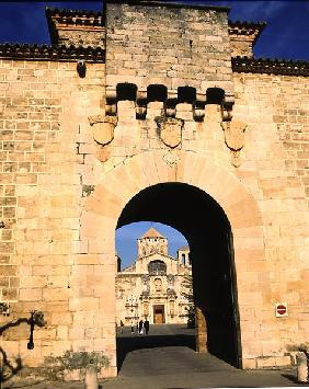 Entrance to the monastery, founded in 1151 (photo)