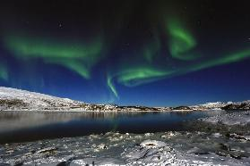 Northern light at Scarsfjord