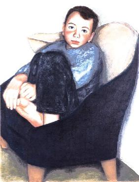 Boy in a Chair, 2003 (pastel on paper)