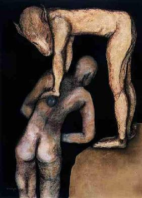 Playing the Game, 1999 (pastel on paper)